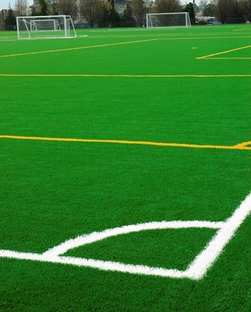 commercial artificial turf soccer field