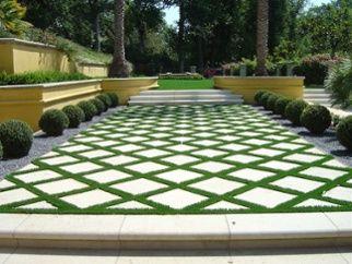 residential patio install turf